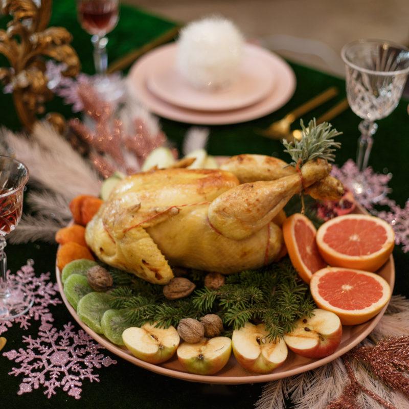 Χριστουγεννιάτικο γεμιστό κοτόπουλο της Lady Butcher
