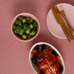 : Γιορτινό φιλέτο κοτόπουλου με δαμάσκηνα και βερίκοκα της Lady Butcher