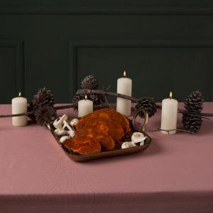 Οσομπούκο κρασάτο με μανιτάρια χριστουγεννιάτικο της Lady Butcher