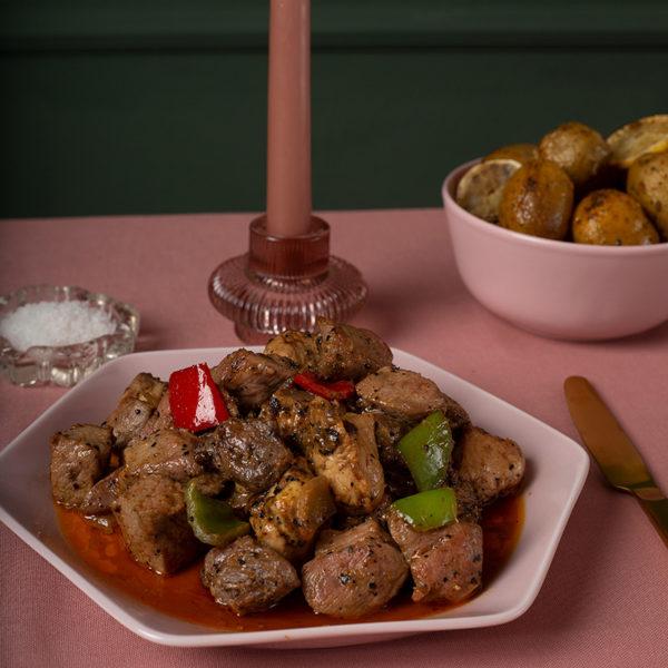 Τηγανιά Μακεδονίας με 3 είδη κρέατος της Lady Butcher